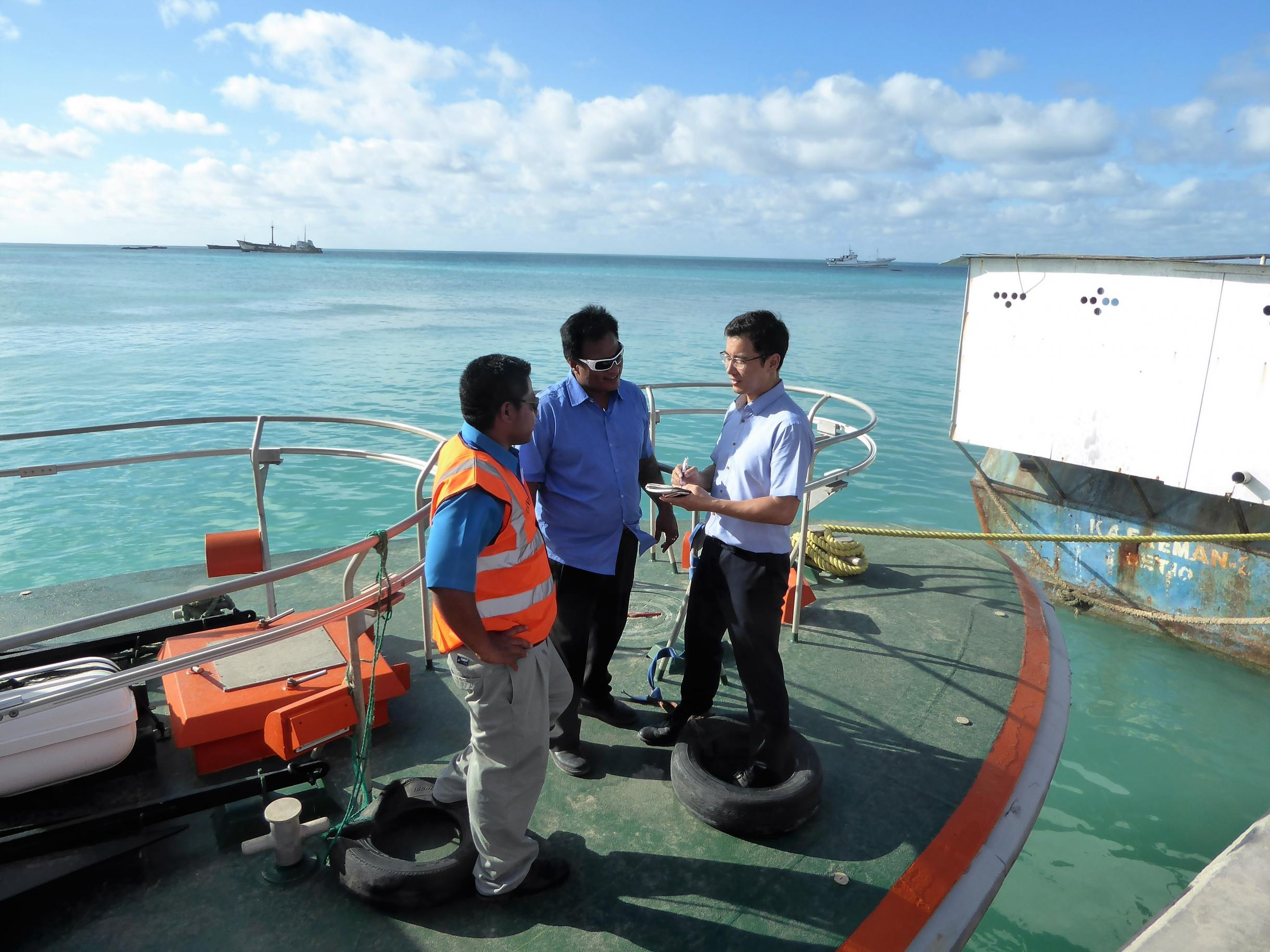 Onsite survey to Betio Port, Kiribati