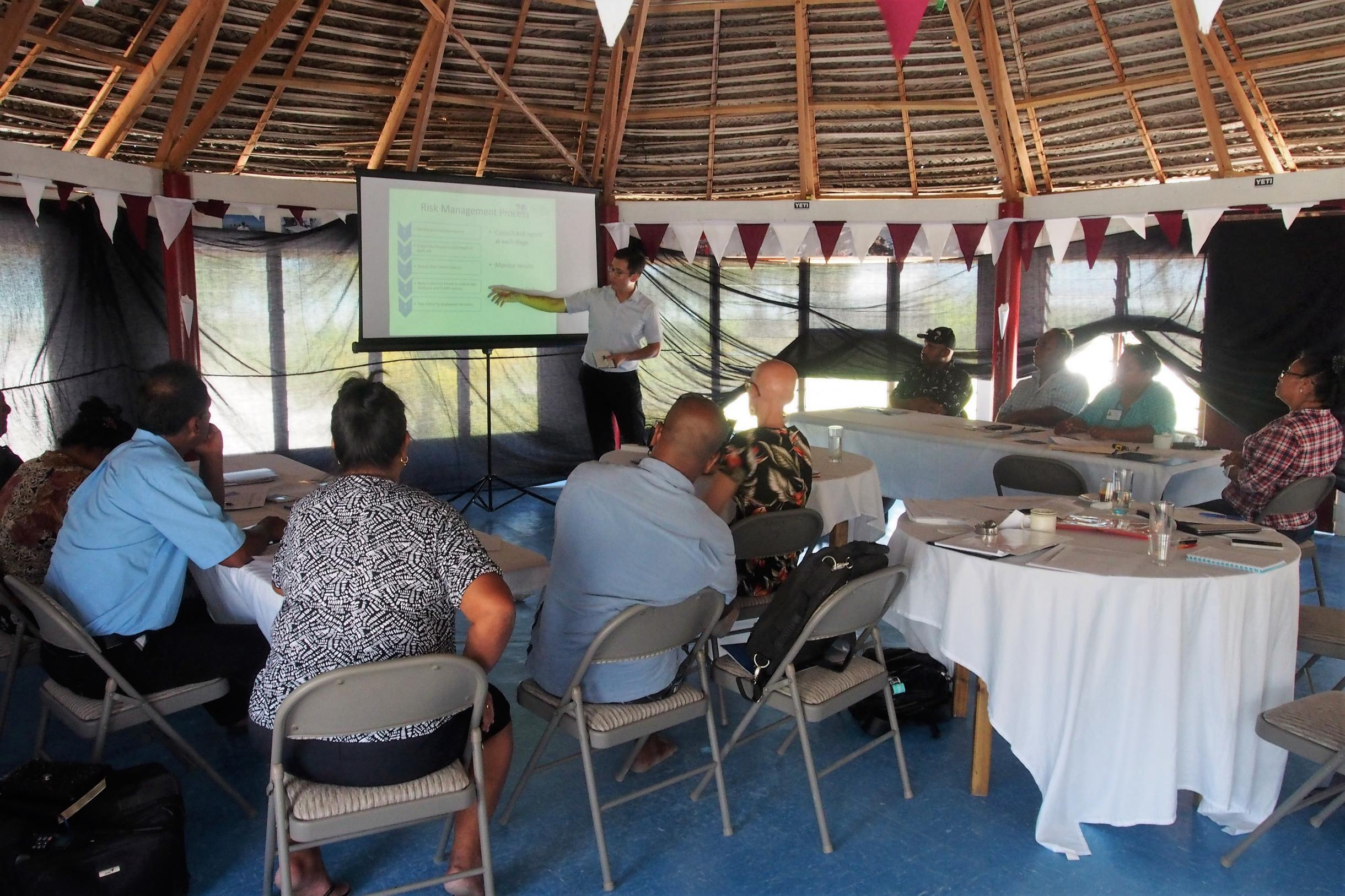 AtoN Risk assessment seminar in Kiritimati, Kiribati